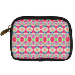 Pretty Pink Shapes Pattern Digital Camera Cases