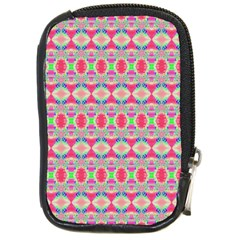 Pretty Pink Shapes Pattern Compact Camera Cases