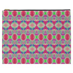 Pretty Pink Shapes Pattern Cosmetic Bag (XXXL)