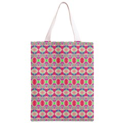 Pretty Pink Shapes Pattern Classic Light Tote Bag