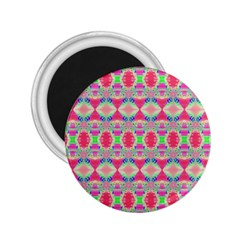 Pretty Pink Shapes Pattern 2.25  Magnets