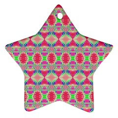 Pretty Pink Shapes Pattern Star Ornament (Two Sides)
