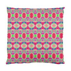 Pretty Pink Shapes Pattern Standard Cushion Case (One Side)