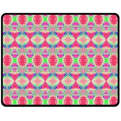 Pretty Pink Shapes Pattern Fleece Blanket (Medium)
