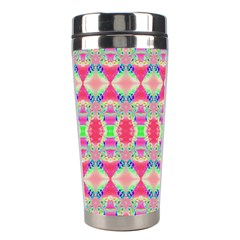 Pretty Pink Shapes Pattern Stainless Steel Travel Tumblers