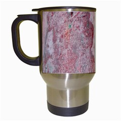 Coral Pink Abstract Background Texture Travel Mug (White)