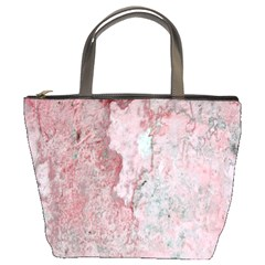 Coral Pink Abstract Background Texture Bucket Bag