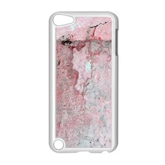 Coral Pink Abstract Background Texture Apple iPod Touch 5 Case (White)