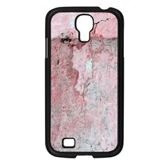 Coral Pink Abstract Background Texture Samsung Galaxy S4 I9500/ I9505 Case (Black)