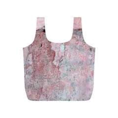 Coral Pink Abstract Background Texture Full Print Recycle Bag (S)