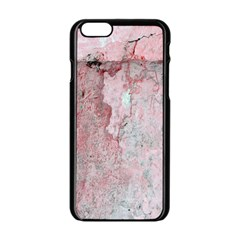 Coral Pink Abstract Background Texture Apple iPhone 6/6S Black Enamel Case