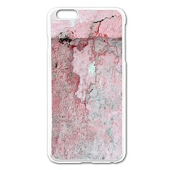 Coral Pink Abstract Background Texture Apple iPhone 6 Plus/6S Plus Enamel White Case