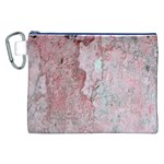 Coral Pink Abstract Background Texture Canvas Cosmetic Bag (XXL) Front