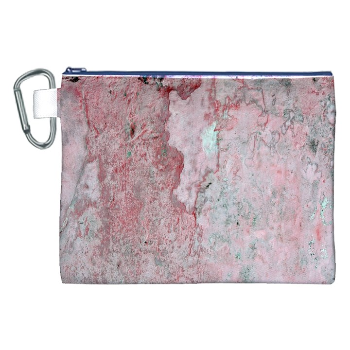 Coral Pink Abstract Background Texture Canvas Cosmetic Bag (XXL)