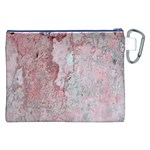 Coral Pink Abstract Background Texture Canvas Cosmetic Bag (XXL) Back