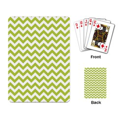 Spring Green & White Zigzag Pattern One Piece Boyleg Swimsuit Playing Cards Single Design
