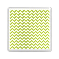 Spring Green & White Zigzag Pattern One Piece Boyleg Swimsuit Memory Card Reader (square)