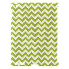 Spring Green & White Zigzag Pattern One Piece Boyleg Swimsuit Apple Ipad 3/4 Hardshell Case (compatible With Smart Cover)