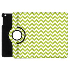 Spring Green & White Zigzag Pattern One Piece Boyleg Swimsuit Apple Ipad Mini Flip 360 Case