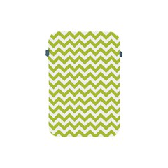 Spring Green & White Zigzag Pattern One Piece Boyleg Swimsuit Apple iPad Mini Protective Soft Case