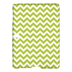 Spring Green & White Zigzag Pattern One Piece Boyleg Swimsuit Samsung Galaxy Tab S (10 5 ) Hardshell Case