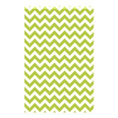Spring Green & White Zigzag Pattern Shower Curtain 48  X 72  (small)
