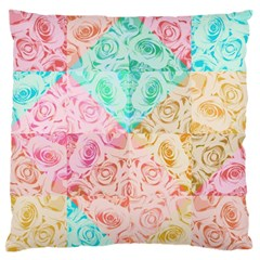 A Rose Is A Rose Large Flano Cushion Case (One Side)
