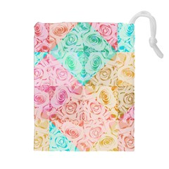 A Rose Is A Rose Drawstring Pouches (extra Large)