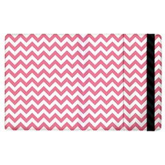 soft pink & White Zigzag Pattern Apple iPad 3/4 Flip Case