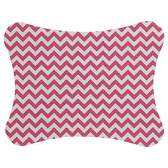 soft pink & White Zigzag Pattern Jigsaw Puzzle Photo Stand (Bow)