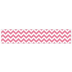 soft pink & White Zigzag Pattern Flano Scarf (Small)