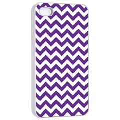 Royal Purple & White Zigzag Pattern Apple iPhone 4/4s Seamless Case (White)