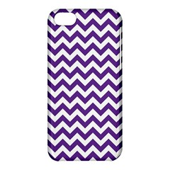 Royal Purple & White Zigzag Pattern Apple iPhone 5C Hardshell Case