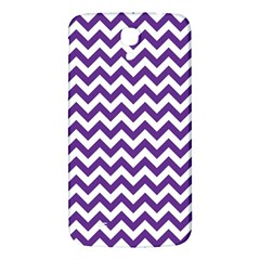 Royal Purple & White Zigzag Pattern Samsung Galaxy Mega I9200 Hardshell Back Case