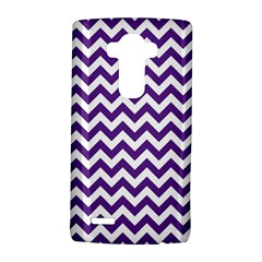 Royal Purple & White Zigzag Pattern LG G4 Hardshell Case