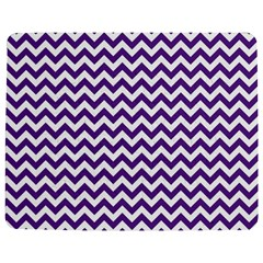 Royal Purple & White Zigzag Pattern Jigsaw Puzzle Photo Stand (rectangular)