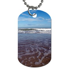 Ocean Surf Beach Waves Dog Tag (Two Sides)