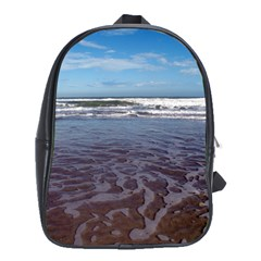Ocean Surf Beach Waves School Bags(Large)