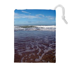 Ocean Surf Beach Waves Drawstring Pouches (extra Large)