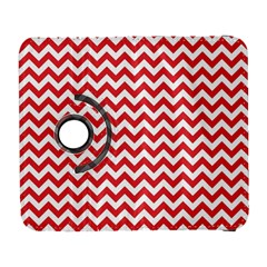 Poppy Red & White Zigzag Pattern Samsung Galaxy S  III Flip 360 Case