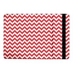 Poppy Red & White Zigzag Pattern Samsung Galaxy Tab Pro 10.1  Flip Case