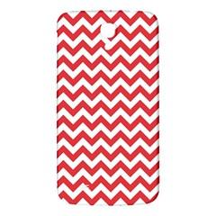 Poppy Red & White Zigzag Pattern Samsung Galaxy Mega I9200 Hardshell Back Case