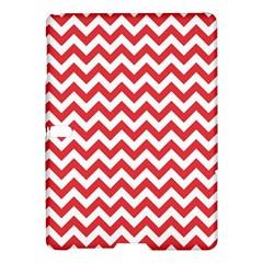 Poppy Red & White Zigzag Pattern Samsung Galaxy Tab S (10.5 ) Hardshell Case