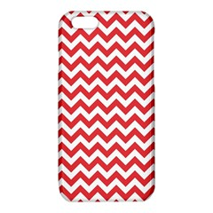 Poppy Red & White Zigzag Pattern iPhone 6/6S TPU Case