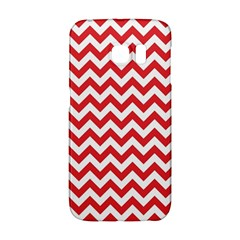 Poppy Red & White Zigzag Pattern Samsung Galaxy S6 Edge Hardshell Case