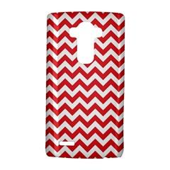 Poppy Red & White Zigzag Pattern LG G4 Hardshell Case