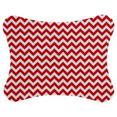 Poppy Red & White Zigzag Pattern Jigsaw Puzzle Photo Stand (Bow)