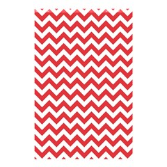 Poppy Red & White Zigzag Pattern Shower Curtain 48  X 72  (small)