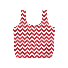 Poppy Red & White Zigzag Pattern Full Print Recycle Bag (S)