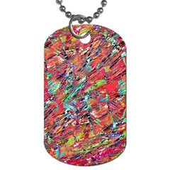 Expressive Abstract Grunge Dog Tag (One Side)